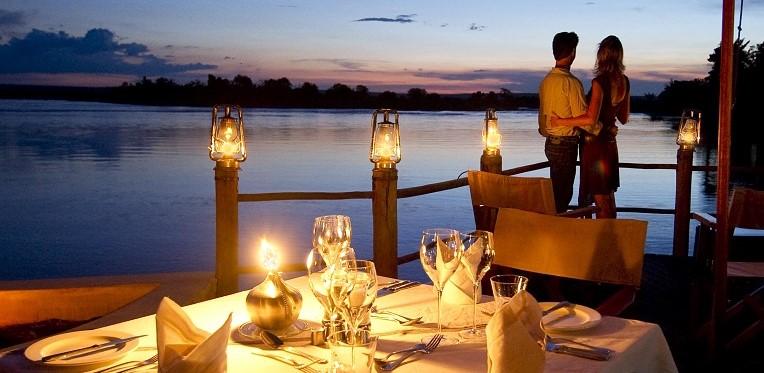 SC Sunset dinner on deck