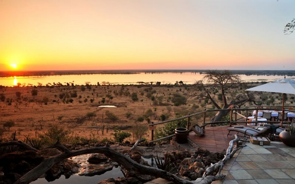 Sunset at Ngoma Safari Lodge