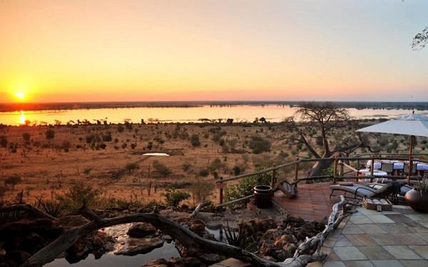 Sunset at Ngoma Safari Lodge