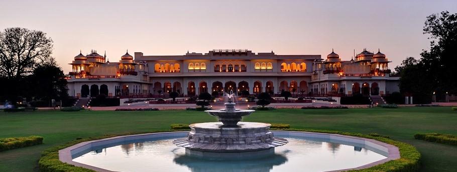 Rambagh Palace Hotel Exterior dusk 5 - Crop