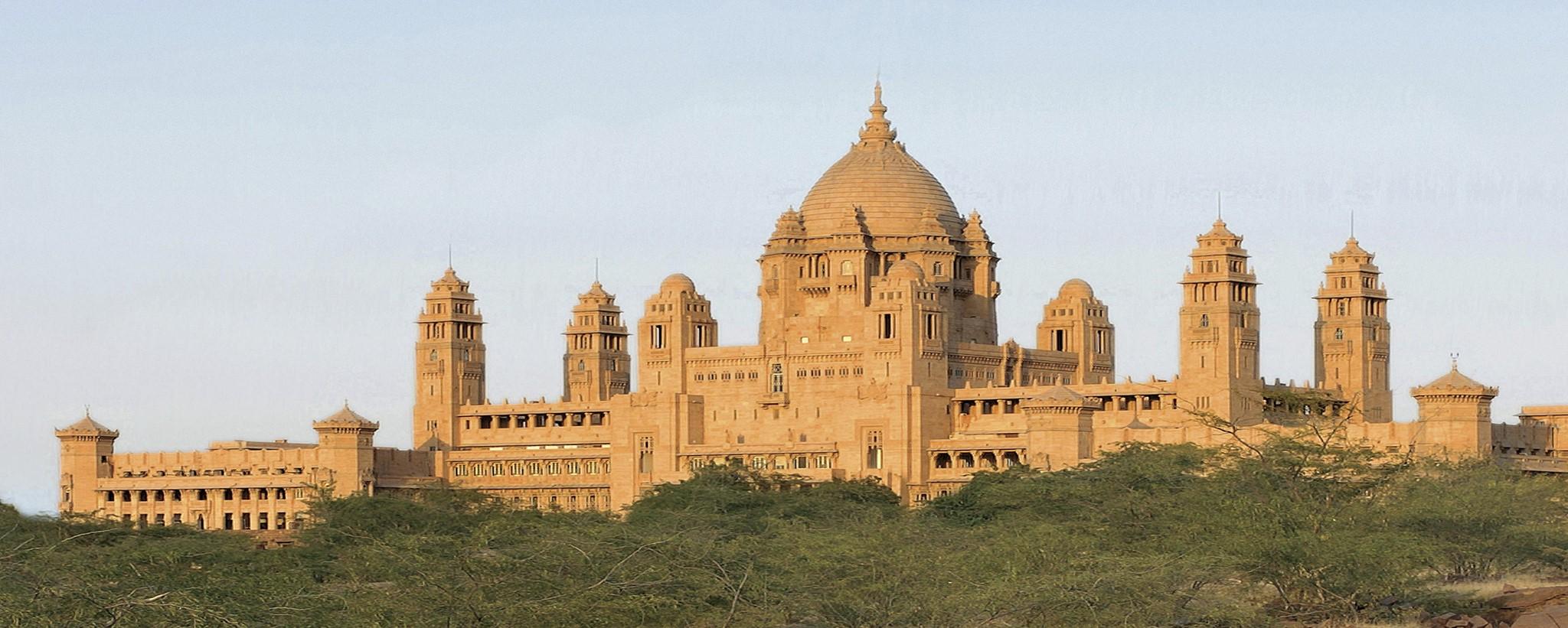 Umaid Bhawan Palace Exterior - Crop